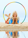 Using a Hula Hoop to Improve Dive Fitness